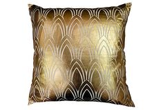 Gold Foil Pillow on OneKingsLane.com to add to that living room