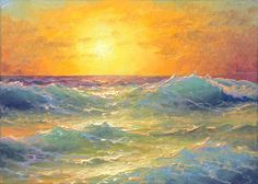 "224 - ""Evening Waves"",  ACEO  open edition print via Etsy"