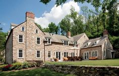 Reviving a Stone Farmhouse is part of home Style Stones Doug Mancuso took the call on a chilly fall day A homeowner wondered if the designer would take a look at the property he had just purchased, - Old Stone Houses, Old Houses, Farm Houses, Manor Houses, Farmhouse Plans, Farmhouse Style, Farmhouse Addition, French Farmhouse, French Country
