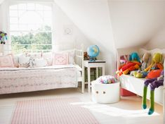 Girl Bedroom For A Daydreamer...Discover more decor and organizing ideas for babies to teens visit http://kidsroomdecorating.net