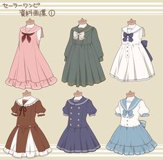 12 Anime Dress Drawing - - Source by drawing Moda Lolita, Lolita Mode, Drawing Anime Clothes, Dress Drawing, Manga Clothes, Drawings Of Clothes, Anime Outfits, Girl Outfits, Cute Outfits