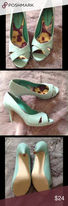 Madden Girl Mint Patent Pumps Madden Girl Patent Pumps in Mint. Size 8. Never worn. No box. Madden Girl Shoes Heels