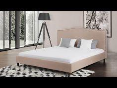Bett Beige - Doppelbett 180x200 cm - Ehebett - Polsterbett - MONTPELLIER