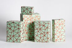 Organic Geometry / Gift Wrap / Mint-Copper by NormansPrintery