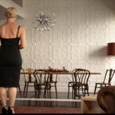 Loving the pressed tin feature wall on 'Offspring'.