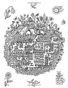 Un libro para colorear para adultos y niños - Secreto del pueblo: Edición Extra Grande - hermosas casas subterráneas, secretas de campo y jardín escondites (más bellos libros de colorante) (Volumen 1): Sarah Janisse Brown: 9781522999850: Amazon.com: Libros