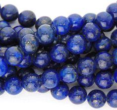 6mm Natural/Dyed Lapis Lazuli Beads 16 strand от Elizcobeads