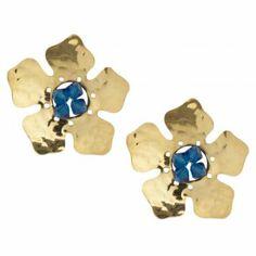 Me encanta! Miralo! Aretes  Mary Dorado-Azul  de Mary  en Dafiti Color Dorado, Color Azul, Stud Earrings, Jewelry, Fashion, Gold Accessories, Crystals, Blue Nails, Moda