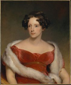 """Mrs. John Biddle"" by Thomas Sully (1818) at the Metropolitan Museum of Art, New York"