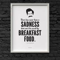 Printable Ron Swanson quote Parks and Recreation Digital File Download 8.5 x 11
