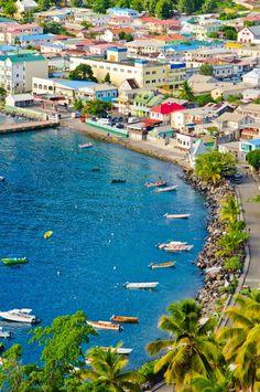 Anse La Raye, St. Lucia--love all the color