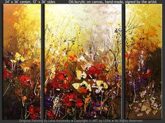 """Highland Flowers"" - Original Flower Paintings by Lena Karpinsky, http://www.artbylena.com/original-painting/20925/highland-flowers.html"