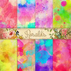 Summer watercolor. Digital Watercolor Papers Digital Paper Shabby Digital Paper Grungy Digital Backgrounds Watercolour Digital Papers
