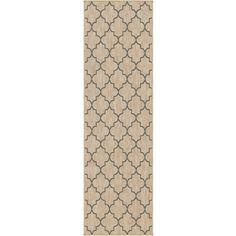 "Simplicity Williams Khaki Slate Blue Runner (2'3"" x 8') $75.60"