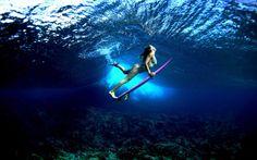 Underwater Surfer Girl Desktop Images Gallery Wallpaper HD