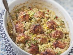 Boulettes de porc au chou et quinoa Plats Quinoa, Regional, Sprouts, Vegetables, Ethnic Recipes, Food, Balls, Cooking Recipes, Rice
