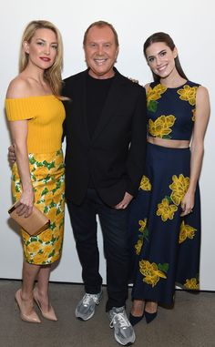 The STUNNING stars pose with Michael Kors at NYFW! Love these floral looks!