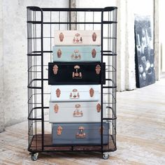 Metal Storage Trunk (copper detail) at Idyll Home