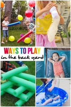 Super Fun Ways To Play in the Back Yard This Summer