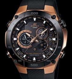 Edifice Black & Rose Gold relógio por Casio