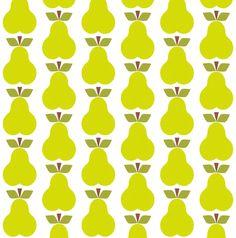 Pear_Rpt fabric by aliceapple on Spoonflower - custom fabric