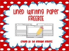 Lined Writing Paper Freebie