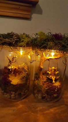 Fairy night lights. My first craft project I loved!