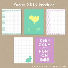 A Vegas Girl at Heart: Freebie Friday: Easter 2013 Project Life Cards