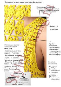 Crochet: Diane von Furstenberg (b/b) Crochet Skirts, Crochet Tunic, Crochet Motif, Crochet Clothes, Crochet Stitches, Knit Crochet, Crochet Patterns, Crochet Chart, Mode Crochet