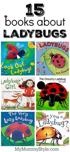 Books about lady bugs 15 books about ladybugs perfect for a preschool bug theme or ladybug theme Preschool Bug Theme, Preschool Books, Preschool Crafts, Preschool Garden, April Preschool, Montessori Books, Preschool Schedule, Kids Crafts, Grouchy Ladybug
