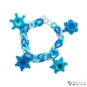 Fun Loop Bracelets with Snowflake Charms