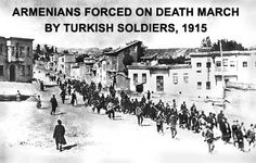 Armenian Genocide - 1915 will never be forgotten! We no matter where we are we will all unite and commemorate those that lost their lives. My grandfather lost his two sisters from starvation before he was born and my grandmothers two sisters were kidnapped and rapped by ottoman Turks! Shame on them and those that deny these crimes!