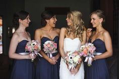 Laughing is good :) Navy Blue Bridesmaid Dresses