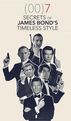 Secrets to James Bond's Timeless Style - Investigating 55 years of the worlds most iconic man - April 21 2019 at James Bond Suit, James Bond Party, James Bond Style, James Bond Movies, Fashion Outfits, Womens Fashion, Fashion Tips, Fashion Ideas, Fashion Styles