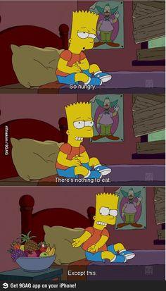 Eat you're fruits Bart!
