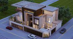 Bungalow House Design, House Front Design, Modern Bungalow, Modern House Design, Building Elevation, House Elevation, Front Elevation, Bungalow Exterior, Modern Exterior
