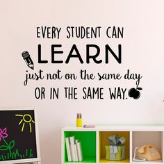 Education Wall Decal Every Student Can Learn Just Not On The
