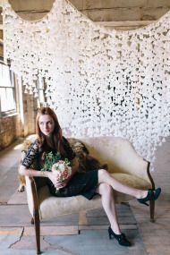 DIY Wax Paper Backdrop | Style Me Pretty