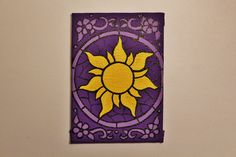 Tangled Sun Icon Stained Glass Mini Canvas - Original by CandleJarsByEmily on Etsy https://www.etsy.com/listing/269478282/tangled-sun-icon-stained-glass-mini