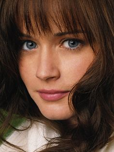 Perfect brown hair blue eye combination..love alexis bledel!