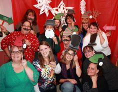 Photo Booth & Minute to Win it Christmas party games