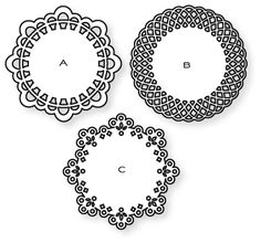 Papertrey Ink - Doily Details Die Collection (set of 3)