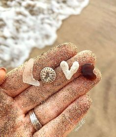 The ocean leaves LOVE letters in the sand for me to find!