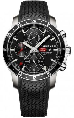 Chopard Mille Miglia GMT Chronograph $4,627 #Chopard #watch #watches #chronograph Limited Edition Of 2012 Pieces Worldwide!