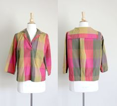 1960s Plaid Sailor Blouse by Lombardi of by copiaandfortuna