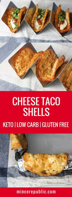 keto recipes Baked Cheese Taco Shells perfect as a low carb tortilla alternative or Keto Taco Shell recipe. Only takes 10 minutes to make! Ketogenic Recipes, Diet Recipes, Recipes Dinner, Carb Free Recipes, Dessert Recipes, Recipies, Cheese Recipes, Carb Free Foods, Vegetarian Recipes