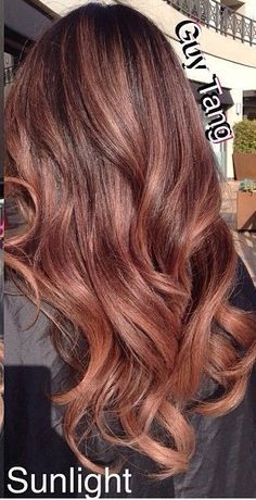 rose gold brunette hair - Google Search