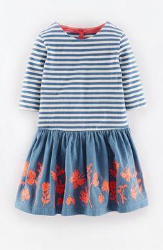Mini Boden Embroidered T-Shirt Dress (Toddler Girls, Little Girls & Big Girls) | Nordstrom