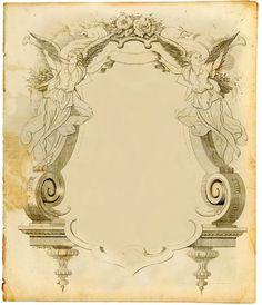 Frames & Paper Suitable for Scrap Booking and Journaling - 3 Vintage Frames, Vintage Prints, Old Paper, Vintage Paper, Vintage Illustration, Engraving Illustration, Foto Transfer, Vintage Ornaments, Ornaments Design