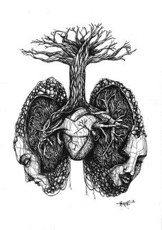 skeleton & lungs stencil art - Google Search